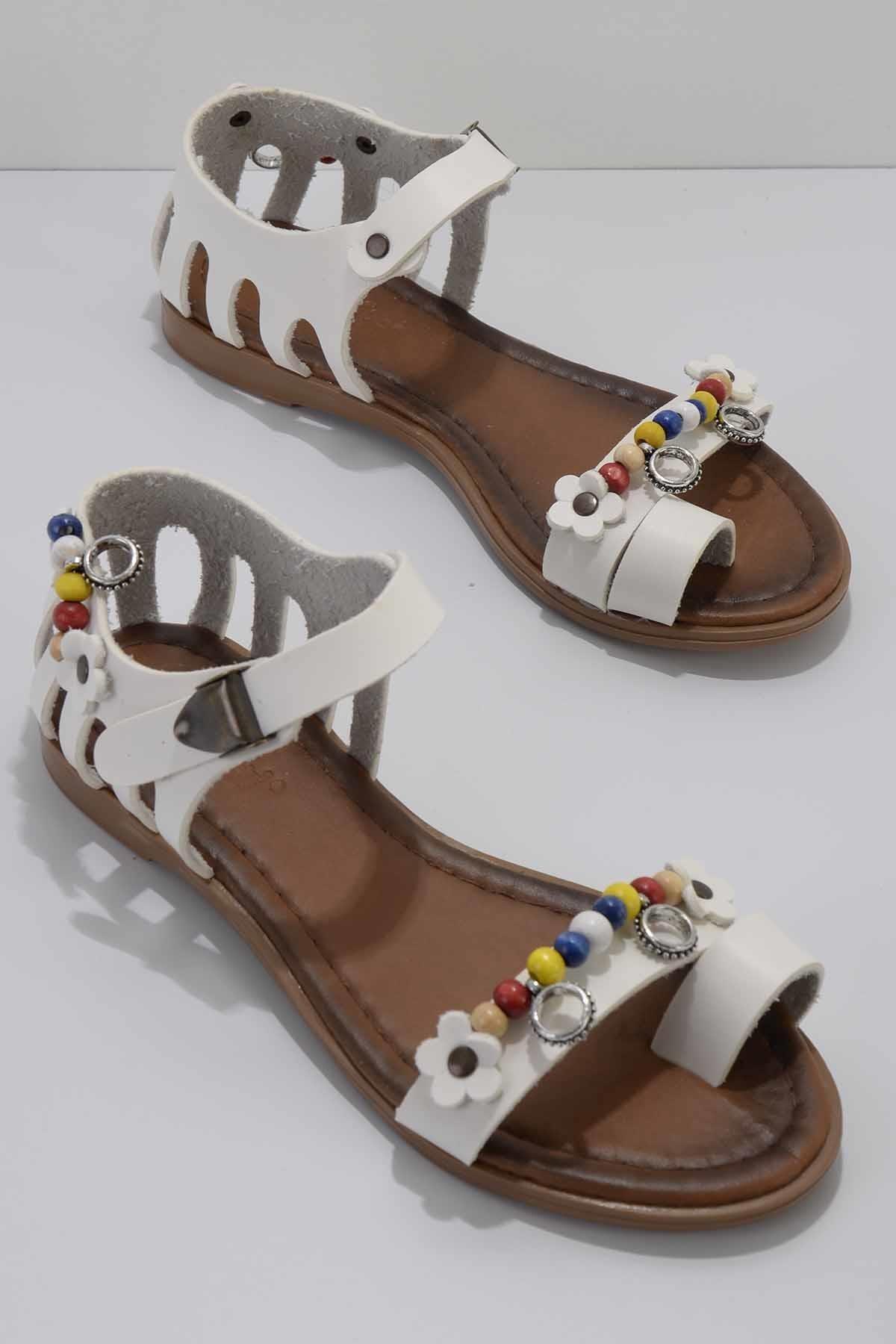 Kadın Beyaz Sandalet K05942195109