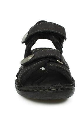 Toddler P Çift Cırt Siyah Çocuk Sandalet 2