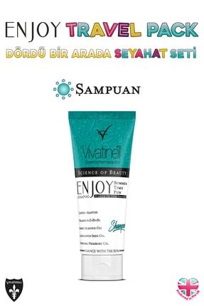 Enjoy Travel Pack Spf 50+ Güneş Kremi & Şampuan & Duş Jeli & Vücut Losyonu 4 x 100 ml 5060409581925 4