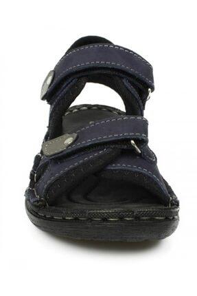 Toddler Çift Cırt Lacivert Çocuk Sandalet 7029 P 2