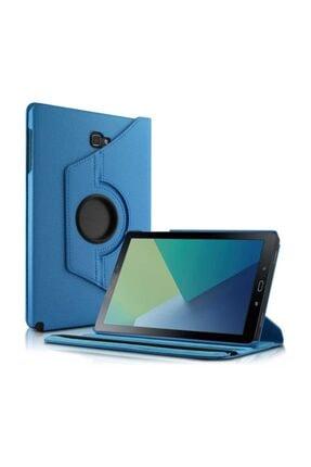 Saythink Samsung Galaxy Tab A 10.1'' P580 Kılıf Standlı Deri Mavi 0