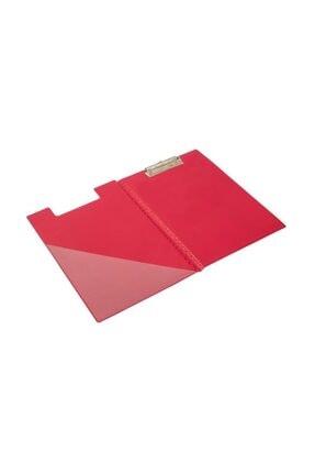 KRAF A4 Kapaklı Sekreterlik  Dosyası Üstten Klipsli Kırmızı 0