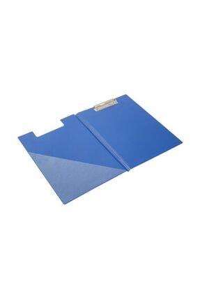 KRAF A4 Kapaklı Sekreterlik  Dosyası Üstten Klipsli Mavi 0