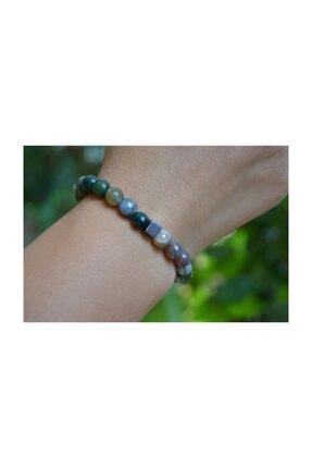 Stoneage Unisex Yeşil Jewellery Hint Akiği Bileklik 2