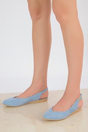Shoes Time Mavi Süet Kadın Sandalet 20Y 900 0