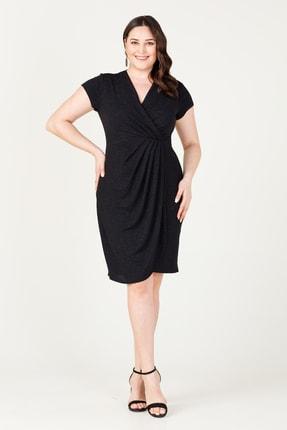 MI Kadın Siyah Kuruvaze Pileli Elbise 20Y.MI.ELB.71028.01 1