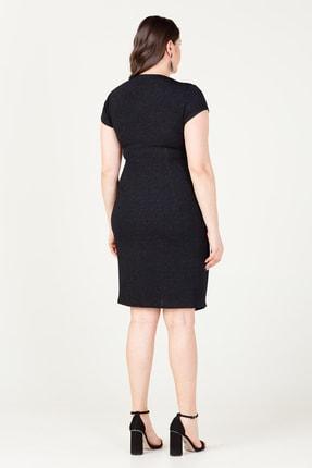 MI Kadın Siyah Kuruvaze Pileli Elbise 20Y.MI.ELB.71028.01 3