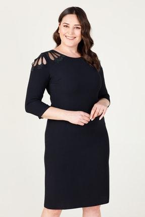 MI Kadın Siyah Laser Kesim Elbise 20Y.MI.ELB.71034.01 2