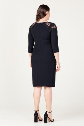MI Kadın Siyah Laser Kesim Elbise 20Y.MI.ELB.71034.01 3
