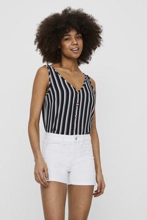 Vero Moda Kadın Navy Blazer V Yaka Düğme Detaylı Kolsuz Bluz 10227138 VMSASHA 10227138 0