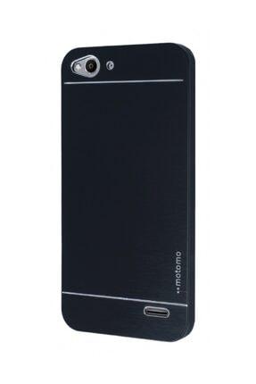 Motomo Vodafone Smart 6 Metal Siyah Rubber Kılıf 0