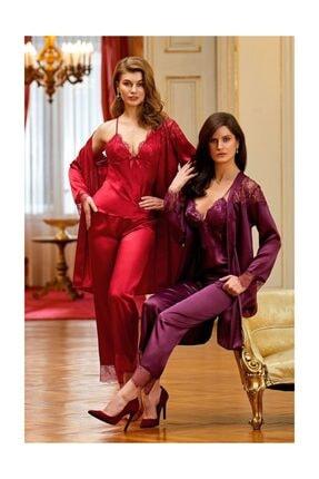 Nurteks 3lü Pijama Kimono Takım 5919 0