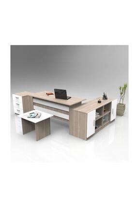 Robin Home Verona Abcf Ofis Büro Masa Takımı Meşe-beyaz 0