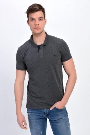 Dynamo Erkek Antrasit Polo Yaka Likralı T-shirt T621 1