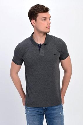 Dynamo Erkek Antrasit Polo Yaka Likralı T-shirt T621 2