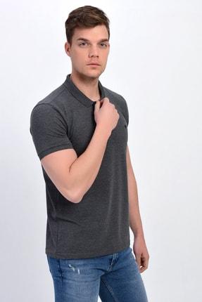 Dynamo Erkek Antrasit Polo Yaka Likralı T-shirt T621 3