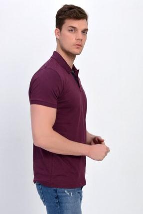 Dynamo Erkek Mürdüm Polo Yaka Likralı T-shirt T621 2
