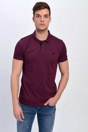 Dynamo Erkek Mürdüm Polo Yaka Likralı T-shirt T621 3