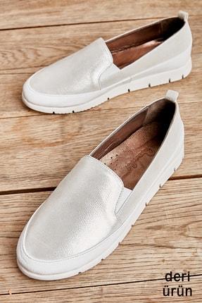 Bambi Hakiki Deri Beyaz Kadın Casual Ayakkabı L08099013 0