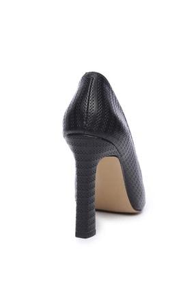 Kemal Tanca Hakiki Deri Siyah Kadın Stiletto Ayakkabı 22 943 BN AYK 3