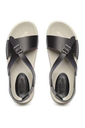 Kemal Tanca Hakiki Deri Siyah  Kadın Sandalet Sandalet 539 1309 BN SNDLT Y20 1