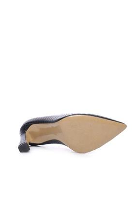 Kemal Tanca Hakiki Deri Siyah Kadın Stiletto Ayakkabı 22 943 BN AYK 4