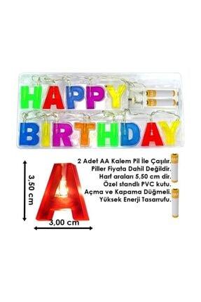 Süsle Baby Party Happy Birthday Pilli Led Işık 1,20mt 1