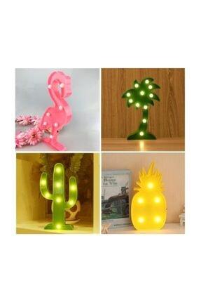 Doğuş Dogusdeco Pembe Flamingo Led Dekoratif Aydınlatma Gece Lambası 0
