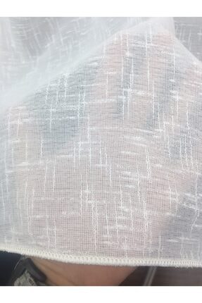 Esse Home Keten Yüksek Gramajlı Düz Tül Perde, 250x260, Seyrek Pile, 1/2 3