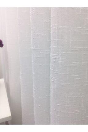 Esse Home Keten Yüksek Gramajlı Düz Tül Perde, 250x260 cm Sık Pile, 1/3 2