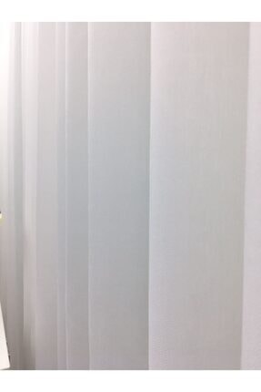 Esse Home Beyaz - Armür Dokuma Düz Tül Perde (ipeksi) Çok Dökümlü, 600x260, Sık Pile, 1/3 1