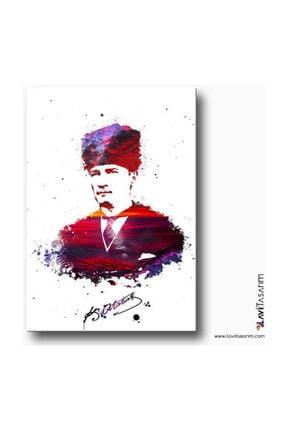 Lavi Tasarım Atatürk Imzası Kanvas Tablo 0