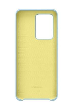 Samsung Galaxy S20 Ultra Silikon Kılıf Mavi 3