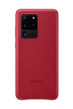 Samsung Galaxy S20 Ultra Deri Kılıf Kırmızı 1