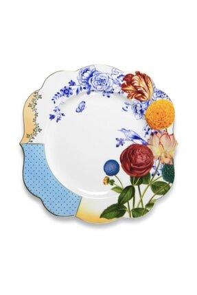 Pip Studio Royal Beyaz / Mavi Çiçek Desenli Yemek Tabağı 28 cm 0