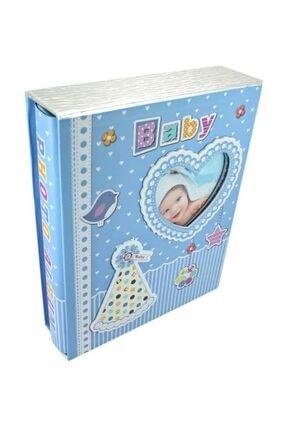 Süsle Baby Party Bebek Fotoğraf Albümü, Kalp Çerçeveli, Kutulu Ve 200 Resimlik, Mavi 0