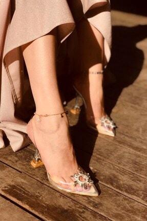 LAMİNTA Sunset Silver Şeffaf Taşlı Topuklu Ayakkabı 2
