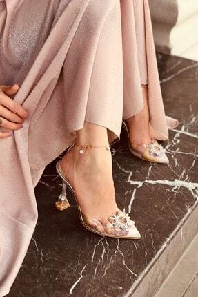 LAMİNTA Sunset Silver Şeffaf Taşlı Topuklu Ayakkabı 3