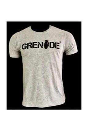 Grenade Kısa Kollu T-shirt Gri Renk M Beden Unısex 0