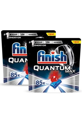 Finish Finish Quantum Max 170 Kapsül Bulaşık Makinesi Deterjanı (85x2) 1