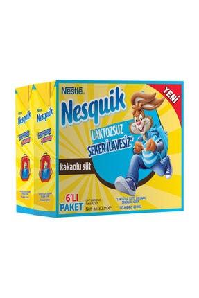 Nesquik Nestle Nesquik Laktozsuz&Şeker İlavesiz Kakaolu Süt 6X180 Ml 0