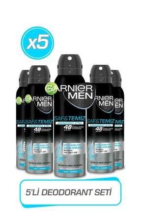 Garnier 5'li Men Saf Ve Temiz Aerosol Seti 0