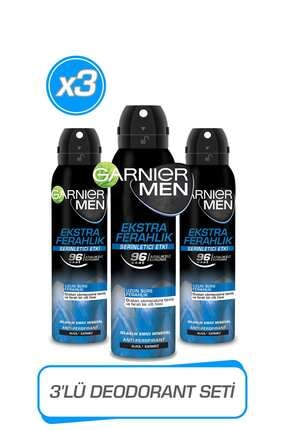 Garnier 3'lü Men Ekstra Ferahlık AerosolSeti 36005423422543 0