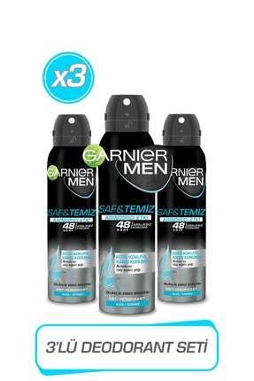 Garnier 3'lü Men Saf ve Temiz AerosolSeti 36005423423773 0