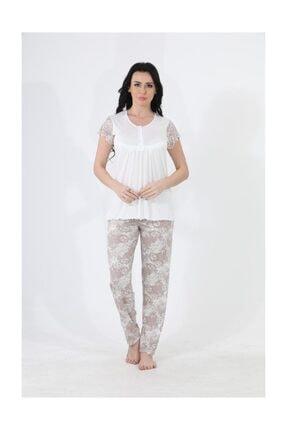 Etoile Kadın Pijama Gecelik Yazlık Kısa Kol Pijama Takımı / 98109 0