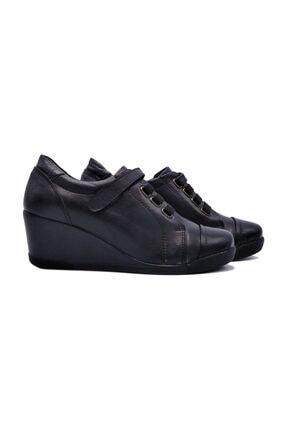 Zaim Kundura Hakiki Deri Siyah Kadın Ayakkabı 0