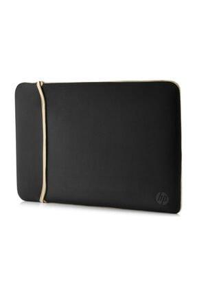 14 Inc Neopren Çevrilebilir Notebook Kılıf Siyah/Gold 2uf59aa resmi