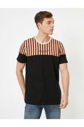 Koton Erkek Siyah T-Shirt 0YAM14713OK 0
