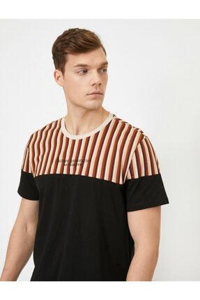 Koton Erkek Siyah T-Shirt 0YAM14713OK 1