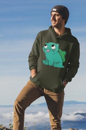 Angemiel Wear Balbazar Pokemon Yeşil Erkek Kapüşonlu Sweatshirt Çanta Kombin 1
